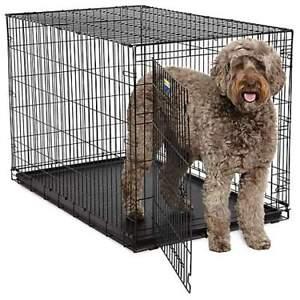 Grande cage à deux portes avec plateau et diviseur