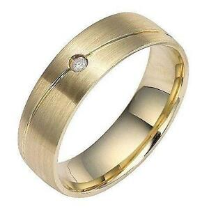 Mens 9ct Gold Wedding Rings