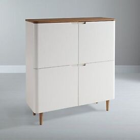 Ebbe Gehl for John Lewis, Four door cabinet - White, wood, scandi style