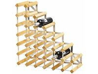 JOHN LEWIS TRADITIONAL LIGHT OAK WINE RACK **BRAND NEW**