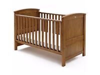 Silver Cross Ashby Cot Bed (solid wood) + organic mattress – new and unused