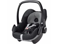 Maxi-Cosi Pebble 0+ Car Seat w/ accessories and Bugaboo Bee adaptor- BARELY USED
