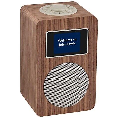 John Lewis Aria DAB/DAB+/FM Bluetooth Radio, Walnut Unwanted present still in Box Cost £89