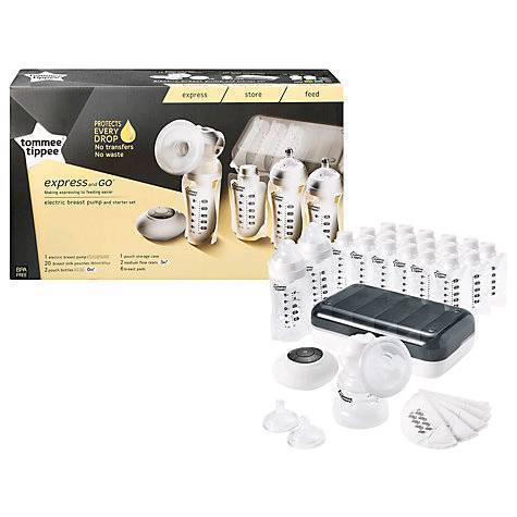 Tommee Tippee Express & Go Electric Breast Pump Set