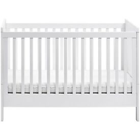 Cot bed john lewis immaculate cost £449
