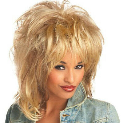 Rockin' Soul Wig Tina Turner Blonde 80's Singer Diva Pop Star Costume](Tina Turner Costume)