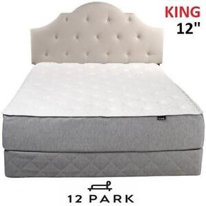 """NEW 12 PARK 12"""" MEMORY MATTRESS 655-451 157417994 KING QUILTED SMART TEMP MEMORY FOAM LUXURY"""