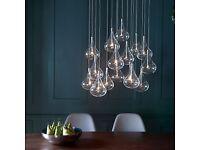 John Lewis Jensen Cluster Dangle Ceiling Light, 16 bulbs