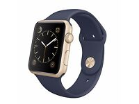 Apple Watch Sport with 42mm Gold Aluminium Case & Sport Band, Midnight Blue