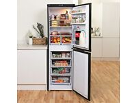 black tall fridge freezer for sale - half and half