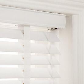 John Lewis white wood Venetian blinds