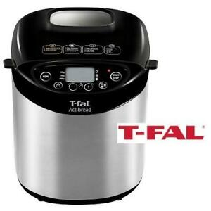 NEW T-FAL 2LB ACTIBREAD MACHINE 7211001527 202138964 STAINLESS STEEL HOUSING NONSTICK KITCHEN APPLIANCE