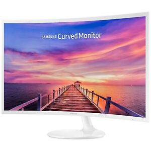 "Samsung 32"" 60Hz 4ms Curved PLS LED Monitor - White"