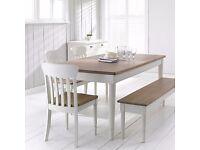 John Lewis Drift Rectangular 6 Seater Dining Table, Cream