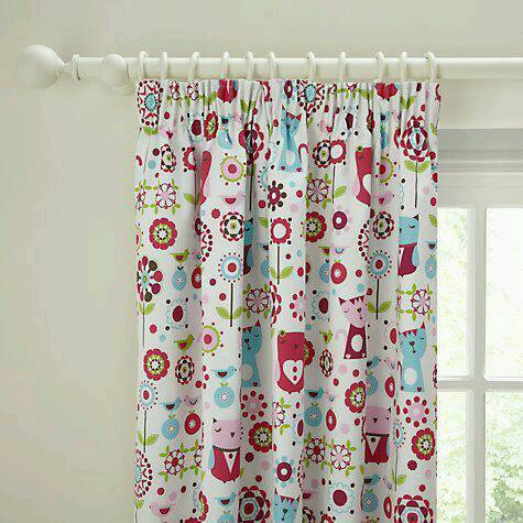 John Lewis Little Home Owl And Pussycat Lined Blackout Curtains