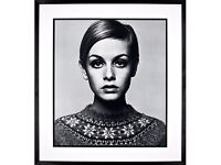 Getty Images Gallery - Brand New John Lewis Framed Twiggy Print, 75 x 83cm Barry Lategan Photograph