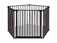 BabyDan Baby Playpen (Brand New) With Wall Fittings, Charcoal (Play Pen)