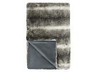 Large John Lewis Faux Fur Throw, Grey
