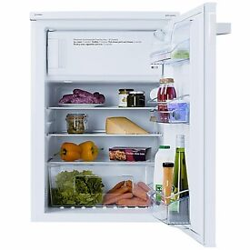 Undercounter fridge with freezer box