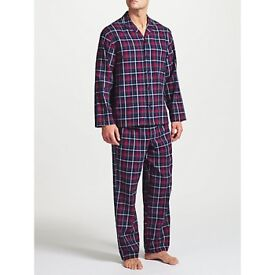 Bargain Brand NEW Clearance Reduced John Lewis Balheni Check Nightwear Pyjamas, Smoke & Pet Free Hme