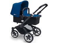 Bugaboo Buffalo Pushchair Base, Tailored Fabric Set, Royal Blue, Car Seat Adapter and changing bag