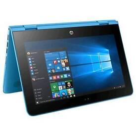 "HP 11.6"" Stream 11-aa000na X360 Intel Celeron 2GB RAM 32GB Storage Blue Laptop"