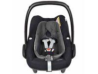 New Maxi-Cosi Pebble Plus i-Size Group 0+ Baby Car Seat, Black Raven