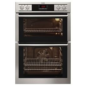 New AEG Stainless Steel Double Oven for sale