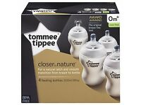 tommee tippee Feeding baby bottles BRAND NEW Boxed 4 Pack