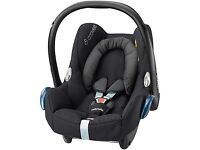 Brand new Maxi-Cosi CabrioFix Group 0+ Baby Car Seat, Black Raven (birth to 12-15 months) (RRP £99)