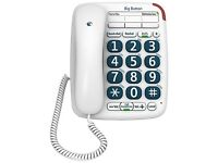 BT Big Button 200 Corded Desk Telephone - White