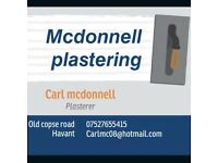 Small plastering company looking for contract work on price or day rate. So please get in contact.