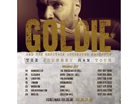 Goldie and live orchestra, Colston Hall. Bristol 24th November x3 tickets. CHEAP.