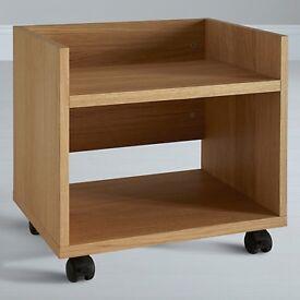 John Lewis Abacus Oak Printer Trolley