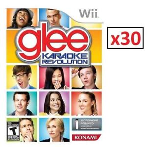 NEW 30 WII KARAOKE REVOLUTION VOL.1 221196349 GLEE EDITION 1 CASE OF 30 GAMES NINTENDO WII CONSOLE VIDEO GAMES
