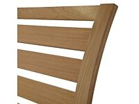 New: John Lewis Fawley Wooden Headboard, Oak, Single