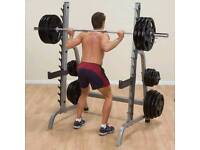Squat rack multipurpose+rubber matts