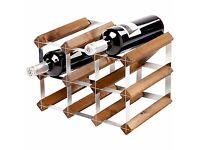 Traditional Wine Rack, dark oak, from John Lewis
