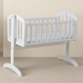 John Lewis Anna swinging crib - white