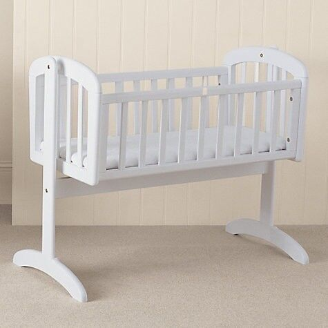 John Lewis Anna swinging crib - white
