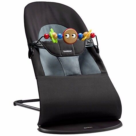 Fantastic ALMOST NEW Babybjorn Baby Bouncer with toy and cover towel