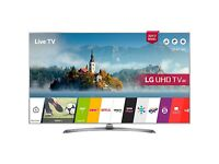 "LG 43UJ750V LED HDR 4K Ultra HD Smart TV, 43"" With Freeview Play & Crescent Stand"
