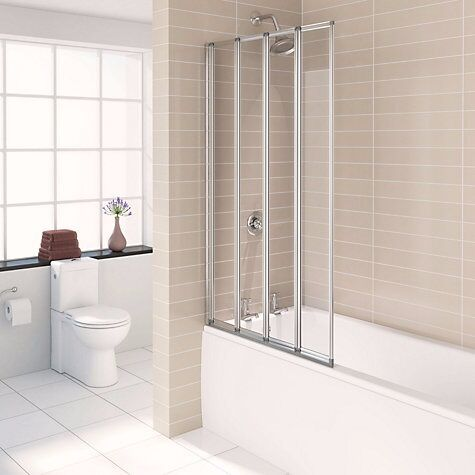 Merveilleux Brand New NILE Straight 4 Panel Folding Bath Screen (W)840MM,Shower Screen
