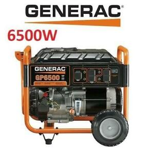 NEW* GENERAC 6500W GAS GENERATOR G0059403 224631453 GP6500 PORTABLE OUTDOOR