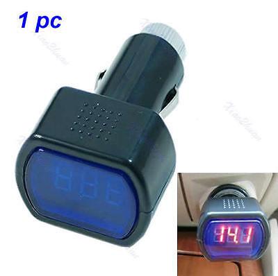 Digital Voltage Gauge Volt LED Car Truck System Battery Voltmeter Meter 12V 24V