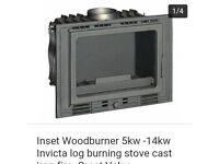 inset wood burner installation