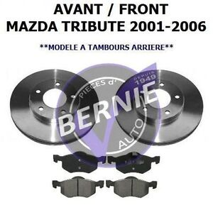 FRONT BRAKE KIT FREINS AVANT MAZDA TRIBUTE 2001-2012