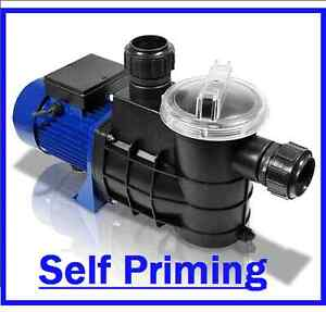 Self priming swimming pool koi pond pump ebay for Pool pump for koi pond