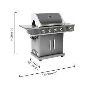 BBQ 4 Burner Gas - Complete Set Up LIKE NEW Caboolture Caboolture Area Preview
