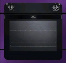 Gorgeous Metallic Purple & Black Glass New World Single Built in Electric Fan Oven & Grill £239 New
